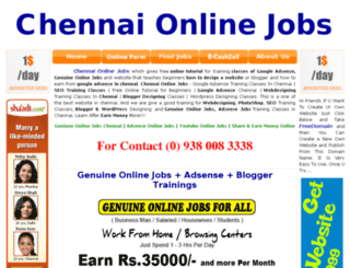chennaionlinejobs.in screenshot