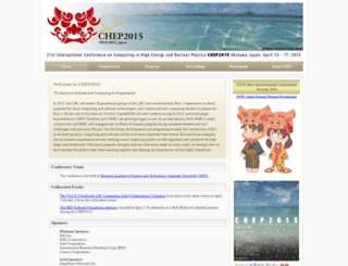 chep2015.kek.jp screenshot