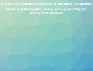 chequeout.co.za screenshot