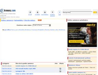 cherche-voiture.annonz.com screenshot