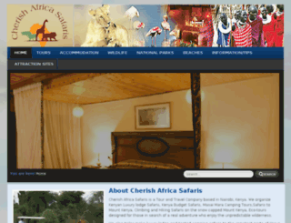 cherishafricasafaris.com screenshot