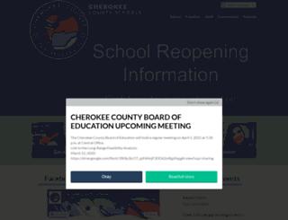 cherokee.k12.nc.us screenshot