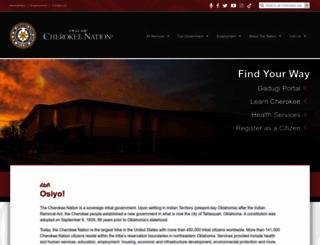 cherokee.org screenshot