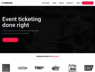 cherrychrest.ticketleap.com screenshot