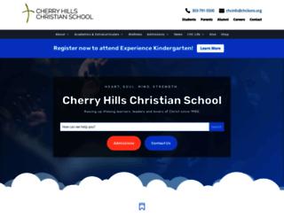 cherryhillschristian.org screenshot