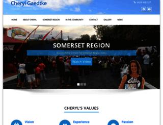 cherylgaedtke.com screenshot
