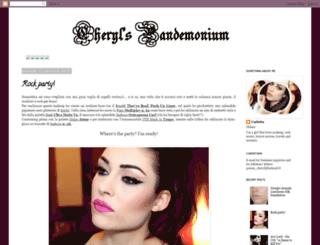cherylpandemonium.blogspot.it screenshot
