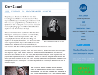 cherylstrayed.com screenshot
