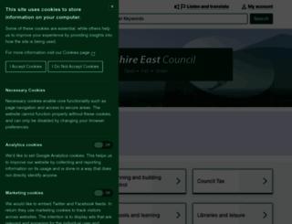 cheshireeast.gov.uk screenshot