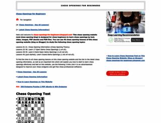 chess-openings-for-beginners.blogspot.com screenshot