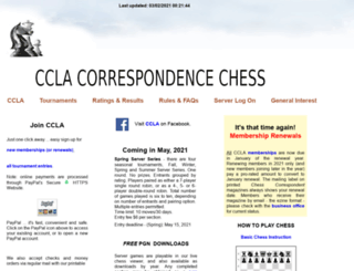 chessbymail.com screenshot