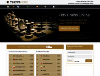 chesshere.com screenshot
