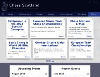 chessscotland.com screenshot