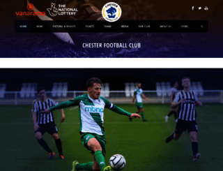 chesterfc.com screenshot