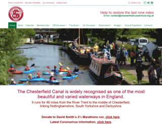 chesterfield-canal-trust.org.uk screenshot