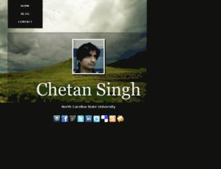chetansingh.me screenshot