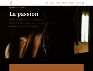 cheval-rhone-alpes.com screenshot