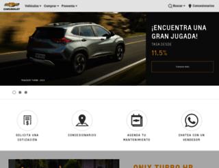 chevrolet.com.ec screenshot