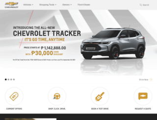 chevrolet.com.ph screenshot
