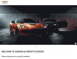 chevrolet.ie screenshot