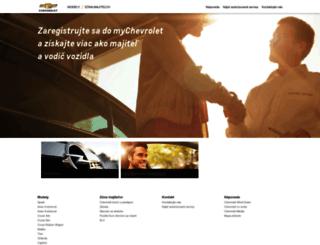 chevrolet.sk screenshot