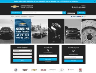 chevroletonlineparts.com screenshot