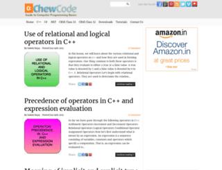 chewcode.com screenshot
