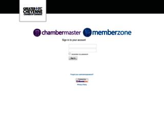 cheyennechamber.chambermaster.com screenshot