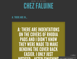 chezfaluine.wordpress.com screenshot