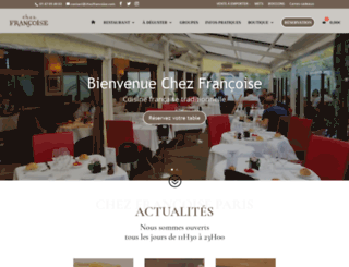 chezfrancoise.com screenshot