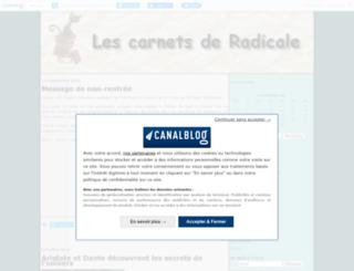 chezradicale.canalblog.com screenshot