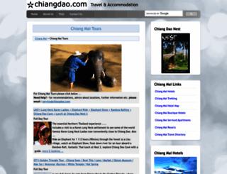 chiangmaitours.chiangdao.com screenshot