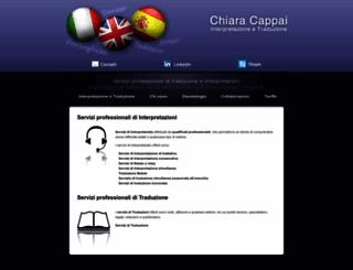 chiaracappai.com screenshot