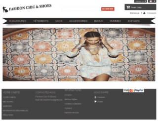 chic-and-shoes.com screenshot