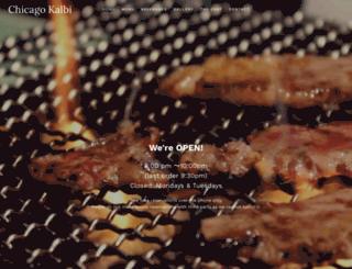 chicago-kalbi.com screenshot
