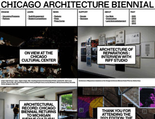 chicagoarchitecturebiennial.org screenshot