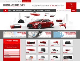 chicagoautobodyparts.com screenshot