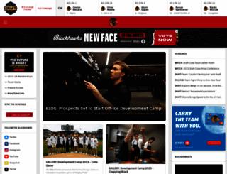 chicagoblackhawks.com screenshot