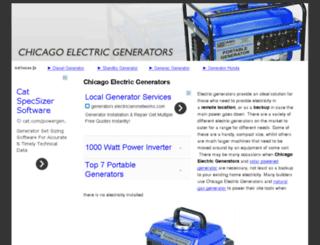 chicagoelectricgenerators.org screenshot