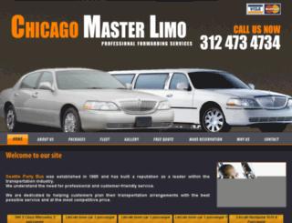 chicagomasterlimo.com screenshot