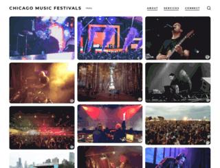 chicagomusicfestivals.com screenshot