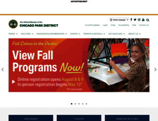 chicagoparkdistrict.com screenshot