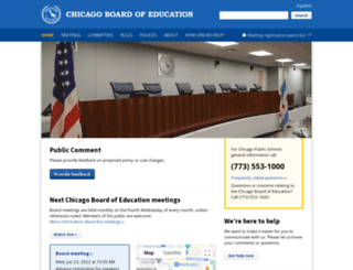 chicagoschoolboard.com screenshot