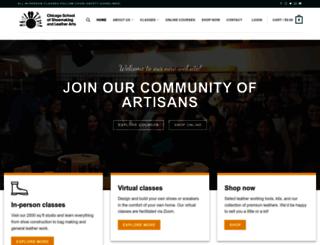chicagoschoolofshoemaking.com screenshot