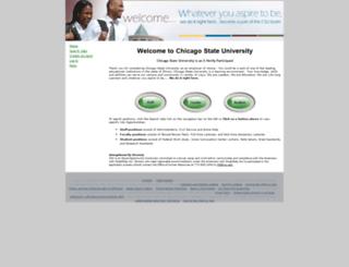 chicagostate.peopleadmin.com screenshot