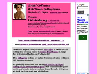 chicbrides.org screenshot