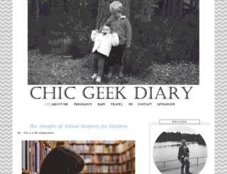 chicgeekdiary.com screenshot
