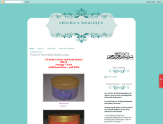 chichasboutique.blogspot.com screenshot