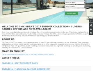 chicibiza.com screenshot