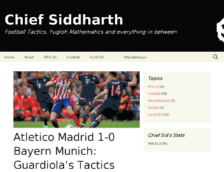 chiefsiddharth.wordpress.com screenshot